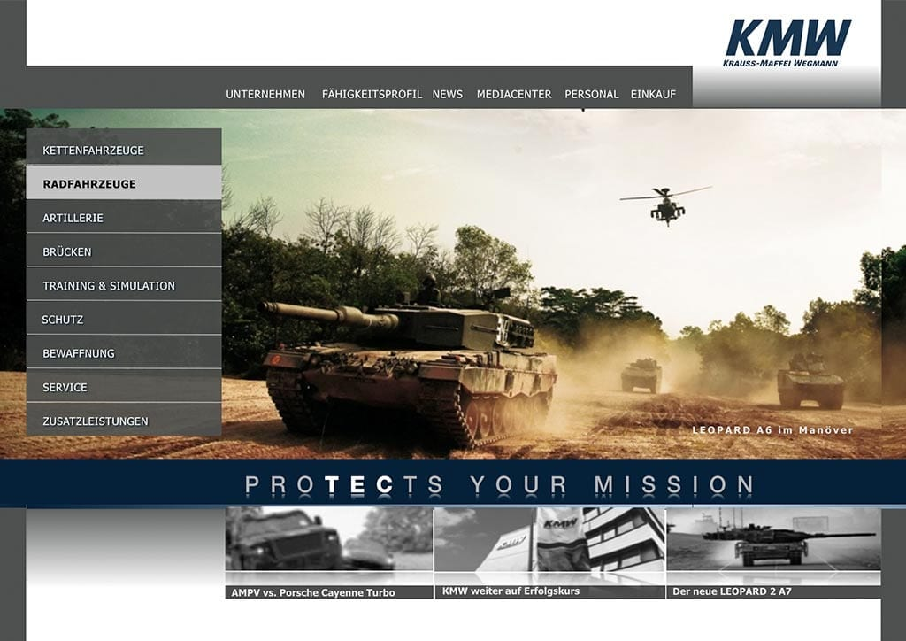 KMW, Kraus-Maffei Wegmann ,Technologie, Sicherheitstechnik
